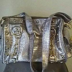 Handbags - GOLD SILK LINED  HANDBAG NWOT